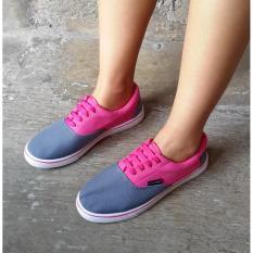 Sepatu Kets Santai Pink Abu Diskon Akhir Tahun