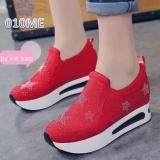 Beli Sepatu Kets Slip On Wanita Stars Dot Merah Nicio Bs