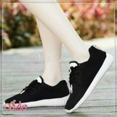 Sepatu Kets Sneakers dan Kasual - Hitam Sol Putih 853db42fa3