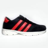 Beli Sepatu Kets Sneakers Pria Hitam Garis Merah Calvien Online