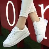 Katalog Sepatu Kets Sneakers Wanita Bolong Samping Warna Putih Sepatukubaru Terbaru