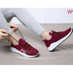 Sepatu Kets Wanita Casual - Sneaker For Woman Shoes Motif Bordir Bunga DN 50