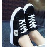 Promo Sepatu Kets Wanita Denim Hitam Foxing G02 Dadedo Terbaru