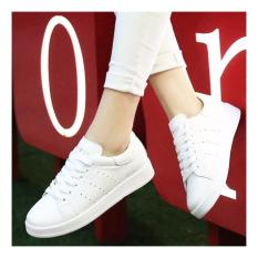 Sepatu Kets Sneakers Wanita - Bolong Samping - Warna Putih