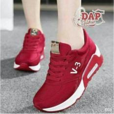 Beli Sepatu Kets Wanita V 3 Merah Sepatu Wanita Cantik Socks Asli