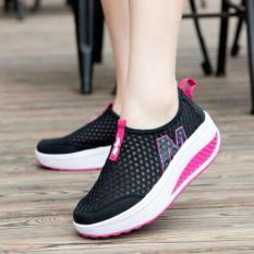 Sepatu Kets Wedges JR19 Hitam