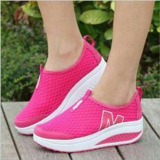 Sepatu Kets Wedges sport running M24 Pink