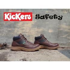 Sepatu Kickers Boots Adreno Warna Coklat Tua - 5Dd9b7