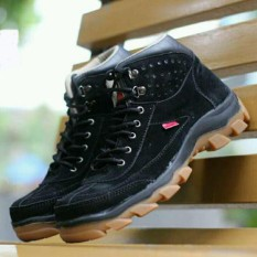 Sepatu Kickers Brembo Safety Boots Suede Leather Black