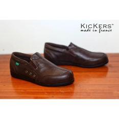 Sepatu Kickers Casual Formal Murah Kulit Asli Kantoran Kerja Cowok VN2