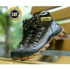 Sepatu Kickers Caterpillar Woods Safety Boots Leather Brown Murah