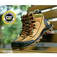 Harga Sepatu Kickers Caterpillar Woods Safety Boots Leather Tan Lengkap
