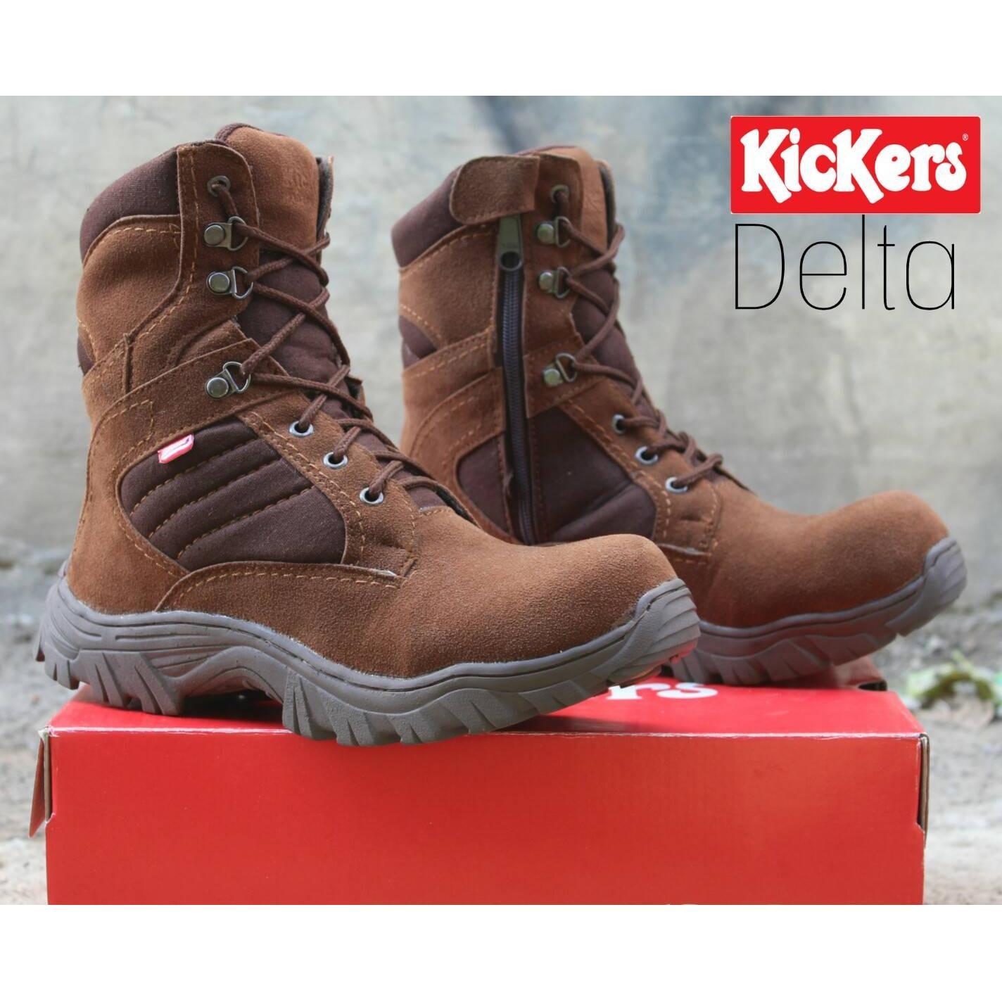 Sepatu Kickers High Delta Safety Boots Ujung Besi Tracking Touring Motor Adventure Gurun Sepatu Outdoor Pdl