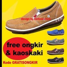 Sepatu Kickers Pria Terbaru Kulit Model Selop - 3De55d