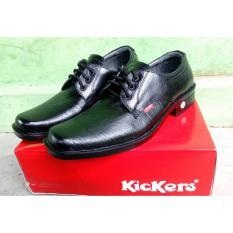 Jual Sepatu Kickers Sepatu Pantofel Formal Pria 100 Kulit Asli Bertali Warna Hitam Kickers Branded