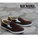Spesifikasi Sepatu Kickers Slop Neptune Coklat Tua Dan Harganya