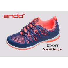 Sepatu Kimmy Navy Orange Ando Diskon