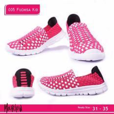 Harga Merlin Sepatu Anak Casual Slip On Import 005 Fuchsia Kids Termahal