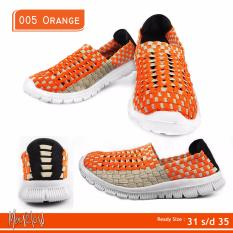 MERLIN, Sepatu Anak Casual Slip On Import - 005 ORANGE KIDS