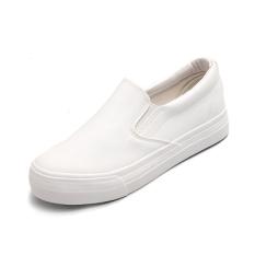 Carrefour Sepatu Korea Modis Gaya Perempuan Sepatu Tergelincir Global Yang (Putih) (Putih)