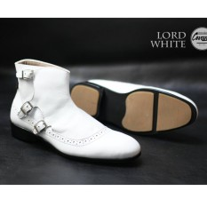 Spesifikasi Sepatu Pantofel Formal Kerja Kantor Pria Kulit Asli Cevany Lord Black Tan White Baru
