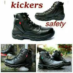 Sepatu Kulit Asli Boots Safety Kickers Berlin