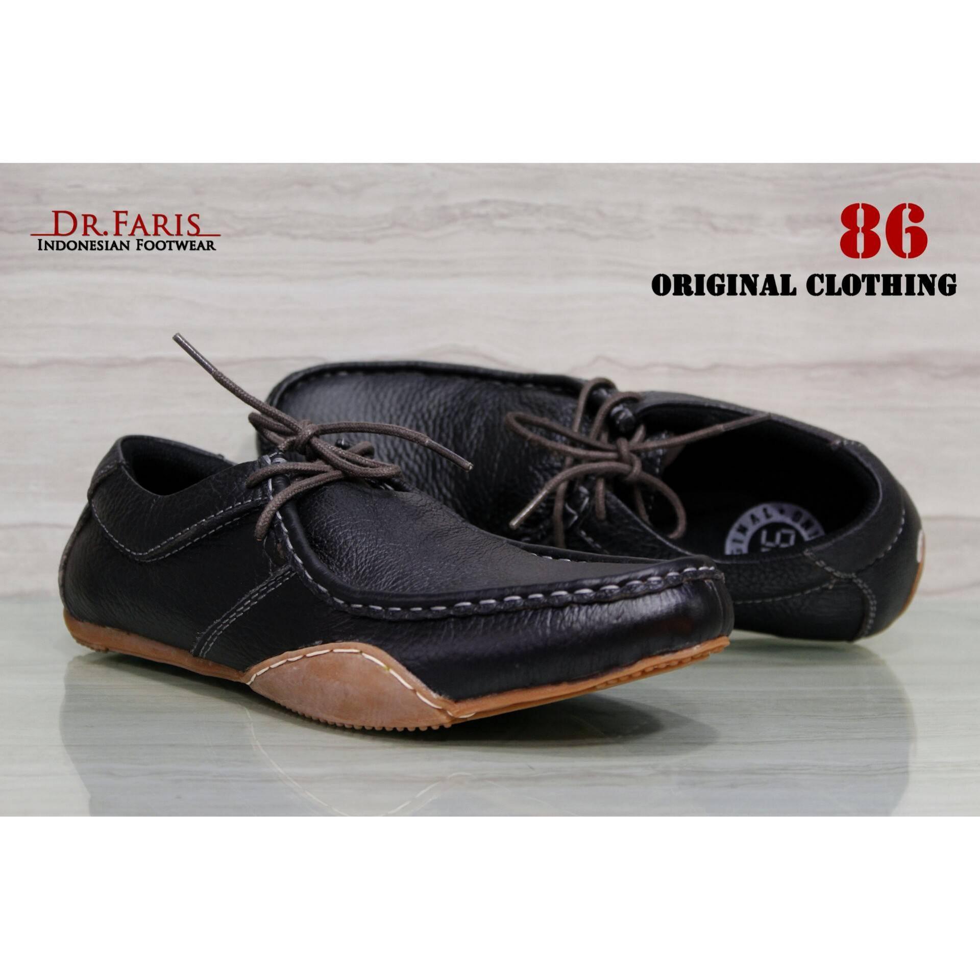 Sepatu Kulit Asli Casual Pria 86 FERARI TALI Hitam Jual Sepatu Pria Dr  Faris Terbaru ... f25373ad24