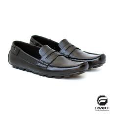 Sepatu Kulit Bandung - Alessio Men Loafers Sepatu Slip On Pria Slop Casual