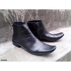 Sepatu Kulit Boot Alexander BD01, Boot Formal Kulit Asli, Sepatu Pantofel kulit Asli