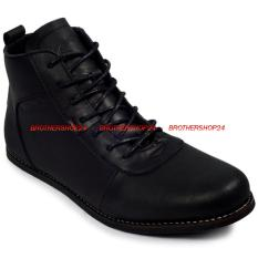 Tips Beli Sepatu Kulit Boots Pria Aerudite Bradleys Hitam Sekelas Brodo Yang Bagus