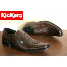 Harga Sepatu Kulit Kickers Pantofel Agira Darkbrown Kickers Ori