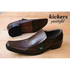 Harga Sepatu Kulit Kickers Pantopel Cosmo Darkbrown Yang Bagus
