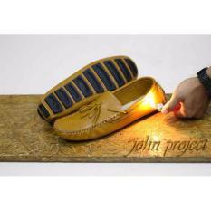 Beli Sepatu Kulit Santai Casual Slop Mocasin Tali Jhon Project Anti Bakar Murah Jawa Barat
