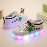 Jual Sepatu Lampu Anak Led Star Pelkro Hijau Antik