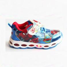 Sepatu Lampu Led Spiderman Blue Diskon Indonesia