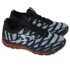 Sepatu Lari Specs Smooth Strider - Black Grey White E Red