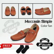 Sepatu Loafer Pria Simple Faux Tan Best Seller