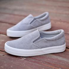 Beli Carrefour Sepatu Korea Fashion Style Mahasiswa Flat Shoes Liar Sepatu Kasual Sepatu Slip On Abu Abu Abu Abu Online Murah