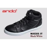 Harga Ando Sepatu Maxxis Black White Merk Ando