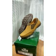 Sepatu Merk Gats Ori Cowok Santai Slop Kulit Indonesia Online Tan To 5 - Twbfxl