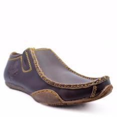 Harga Termurah Sepatu Mocasin Slip On Loafer Kulit Blackmaster Slop Ferari Coklat