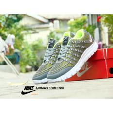 Sepatu Murah sneakers 3D Skin Abu Hijau Sport Sneakers/ Sepatu Sport/ Sepatu Runing/ Sepatu Olah Raga