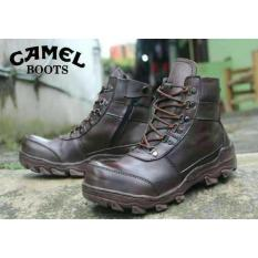 Sepatu Murah Boots Safety Camel Kulit Asli Free Kaos Kaki - A9nnfx