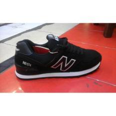 Sepatu Murah New Balance 574 Hitam Putih + Box - Km5lwl
