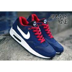 Sepatu Nike Airmax One 1 Man Pria Untuk Cowok Biru Navy Merah Murah - Uar7x2