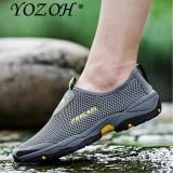 Beli Yozoh Sepatu Hiking Pria Gaya Kasual Warna Abu Abu Cicilan