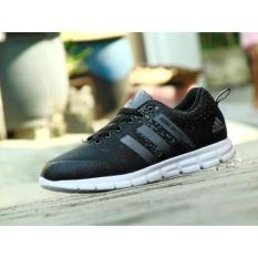 Harga Sepatu Olahraga Pria Sneakers Adds Adizero Knit 2 Hitam Abu Tua Santai Lari Cowok Cewek Baru Murah