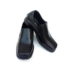 GLOBY - Sepatu Pantofel Anak Laki-Laki Hitam Polos - Sepatu Formal Anak Laki-Laki Hitam Polos - Sepatu Sekolah Anak Laki-Laki Hitam Polos