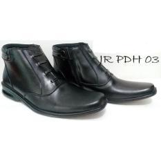 Sepatu Pantofel Boots PDH 03 Kulit Sapi Asli Kelas 1 Bukan Imitasi / Sepatu Formal Pria Pantofel Cowok Pantopel /  Sepatu Kerja Bisnis Kantor Casual - Kuliah