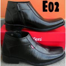 Kickers - Sepatu Pantofel Boots PDL/PDH Pria Kulit Asli Kickers Formal Ritsleting 02